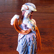 SALE 19th Century Staffordshire Figure Of A Woman Holding A Parrot, Circa 1860