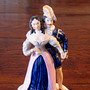 SALE 19th Century Staffordshire Figure Of A Young Queen Victoria & Albert