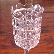 SALE 19th Century Early American Pattern Glass Celery Vase