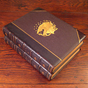 SALE 2 Volume Set Of Leather Books Titled National Portrait Gallery Of Eminent Americans, ...