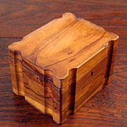 SALE 19th Century Olive Wood Box, Circa 1880