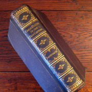 SALE 19th Century Leather Bound Book Titled Great Events Of Our Past Century, 1882