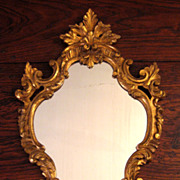 SALE Antique Italian Gilt Wood Mirror, Circa 1910