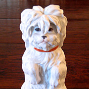 SALE Large German Gebruder Heubach Bisque Dog, Circa 1900