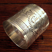SALE 19th Century Sterling Silver Napkin Ring, Circa 1890