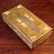 SALE Vintage Italian Florentine Gilt Wood Tissue Box, Circa 1920