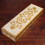 SALE Large Vintage Italian Florentine Gilt Wood Box, Circa 1940