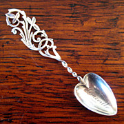 SALE 19th Century Sterling Silver Souvenir Spoon, Circa 1890