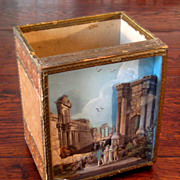 SALE 19th Century Italian Paper Diorama Letter Holder, Circa 1875