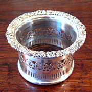 SALE Early 19th Century Sheffield Silver Plate Wine Coaster