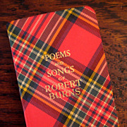 SALE Vintage Tartan Ware Book Titled Poems & Songs Of Robert Burns, Circa 1930
