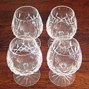 SALE Set Of 4 Signed Waterford Crystal Brandy Snifters