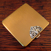 SALE Vintage Volupte' Art Deco Rhinestone Compact, Circa 1940