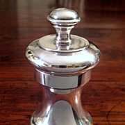 SALE Vintage Sterling Silver Pepper Mill, Circa 1930
