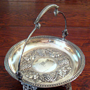 SALE 19th Century Victorian Silver Plate Fruit Basket, Circa 1875