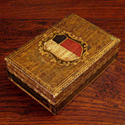 SALE Vintage Italian Florentine Gilt Wood Coat Of Arms Box, Circa 1940