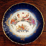 SALE King Edward VII And Queen Alexandra Coronation Plate, Circa 1902