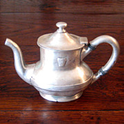 SALE Antique Pennsylvania Railroad Silver Teapot, Circa 1900