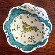 SALE Mid-Century Italian Faience Glazed Pottery Bowl, Circa 1960