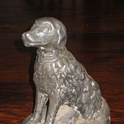 SALE Early 19th Century Lead Dog Doorstop, Circa 1820