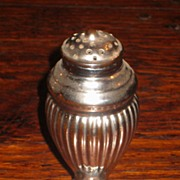 SALE Early 19th Century Staffordshire Silver Luster Pottery Pepper Pot