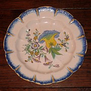 SALE 18th Century Dutch Delft Floral Plate, Dated 1783