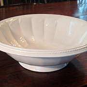 SALE Large 19th Century Ironstone Bowl By Elsmore & Forster, Dated 1859