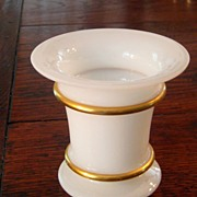 SALE Vintage French Opaline Vase With Gold Trim, Circa 1930