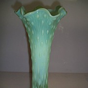 NorthWood Tree Trunk Vase Blue Green Opalescent