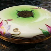 "T & V Limoges France 1900's Hand Painted Floral 4-7/8"" Dresser Box by Stouffer Studios of"