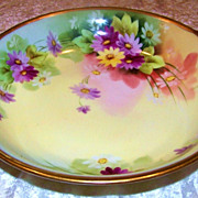 "Beautiful T & V Limoges & Pitkin & Brooks Studio 1900's Hand Painted ""Lavender, Purple, Y"