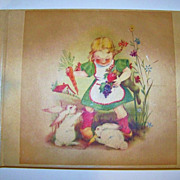 SALE Vintage 1930--40's Little Girl's Post Card Collection Book of &quot;Easter&quot;  33 ...