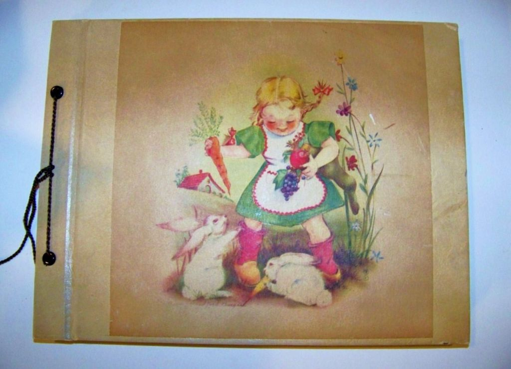 "Vintage 1930--40's Little Girl's Post Card Collection Book of ""Easter""  33 Post Cards"