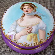 Outstanding T & V Limoges France Vintage 1900's Hand Painted Portrait &quot;Queen Louise of Pr
