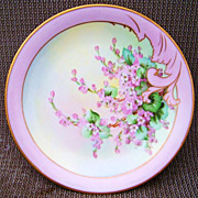 "1903 Vintage CA France Limoges & Pickard Studio of Chicago Hand Painted ""Pink Lilac"""