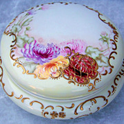 "Gorgeous Vintage T & V France Limoges Hand Painted Vibrant ""Red, Lavender, Pink, & Yellow"