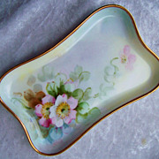 Beautiful Vintage Limoges France 1900's Hand Painted &quot;Apple Blossoms&quot; 5-3/8&quot; Pi