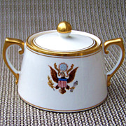 Scarce Vintage T & V Limoges 1900's White House Presidential China 2-7/8&quot; Sugar from the 