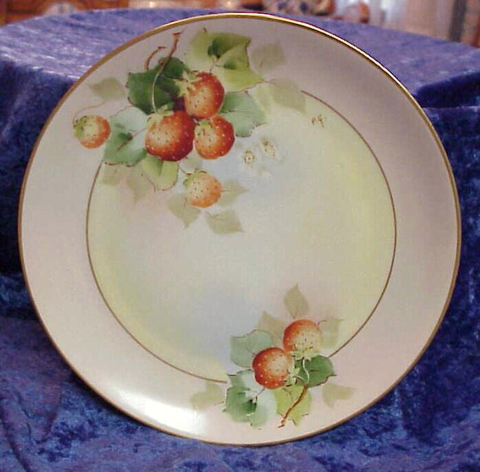 Vintage Pickard HP &quot;Strawberries&quot; 7-5/8&quot; Plate by &quot;Paul Gasper&quot;