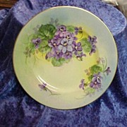 "NICE Vintage HP Circa 1900's ""Violet"" 9-5/8""Chicago Studio Decorated"
