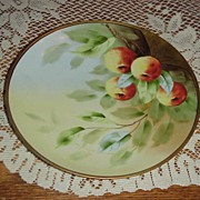 "SALE Superb Pickard Artist ""Apples"" Decor 9"" Plate by ""Klipphahn"""