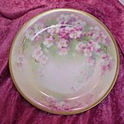"SALE Fabulous Old Abbey Limoges 1900's Hand Painted ""Cherry Blossoms"" 12-1/8"" C"