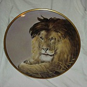 "SALE RARE J & C Bavaria HP 1900 ""Lion"" Portrait 9-7/8"" Plate by Chicago Decorat"