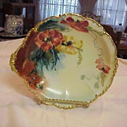 "SALE Attractive J.P.L. France Limoges 1900's Hand Painted Fancy ""Poppy"" 10-1 ..."
