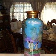 "SALE Large 1900's Hand Painted ""Dancing Ladies"" 15"" Vase by Pickard Artist """