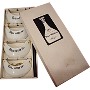 Nice Vintage Boxed Set Porcelain Wine Collar Markers