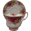 "Fine~Royal Albert Cup & Saucer "" Old Country Roses"""