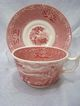 "Royal Staffordshire "" Jenny LInd"" Transfer Cup & Saucer ~Pink / Red"