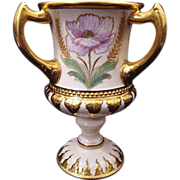 CAC Signed American Belleek Large Hand-painted Porcelain Loving Cup