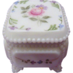 Petite  Roses & Bows Covered Box ~ Westmoreland